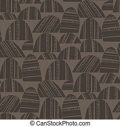 Folk style ethnic vibes abstract soil earthy surface seamless pattern for background, fabric, textile, wrap, surface, web and print design. Abstract natural brown vector tile rapport.
