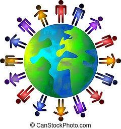 folk, värld