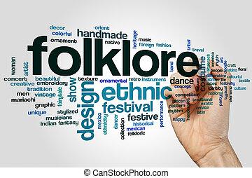 Folklore word cloud
