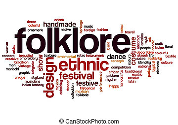 Folklore word cloud concept