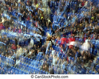 folkmassa, av, fläktar, på, den, stadion