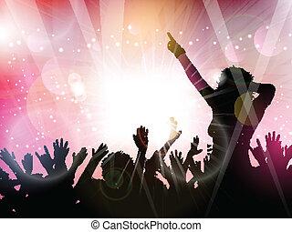 folkmassa, parti, bakgrund