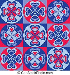 Folksy Hearts Pattern