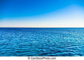 folktom, strand, hav