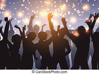 folla, luci, bokeh, 1103, fondo, festa