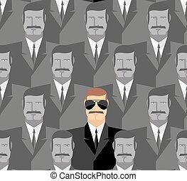folla, modello, persone., spy., seamless, men.