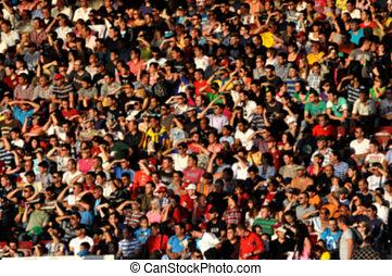 folla, persone, sfocato