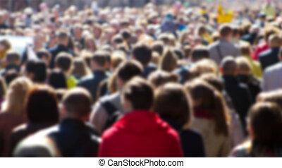 folla, strada