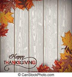 follaje de otoño, madera, acción de gracias