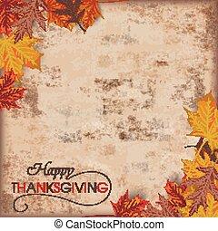 follaje de otoño, vendimia, acción de gracias