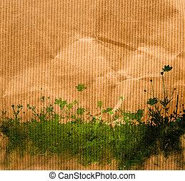 follaje, plano de fondo, multicolor