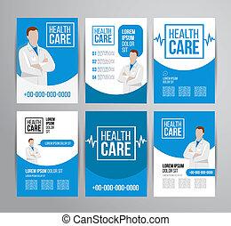 folleto, atención sanitaria