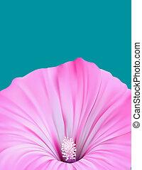 folleto, con, flor, plano de fondo, diseño
