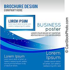 folleto, concepto, diseño, plano de fondo