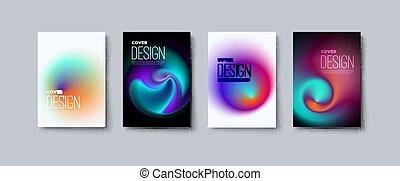 folleto, conjunto, cubiertas, empresa / negocio, mínimo