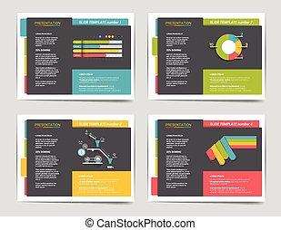 folleto, diapositiva, empresa / negocio, templates., libro, ...