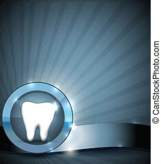 folleto, dientes, asistencia médica