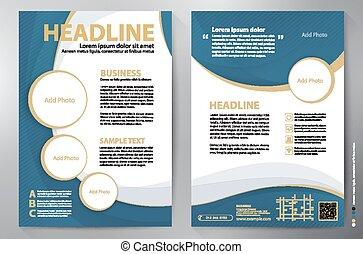 folleto, diseño, a4, vector, plantilla