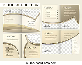 folleto, disposición, vector, diseño, plantilla