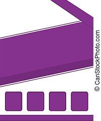 folleto, plano de fondo, púrpura