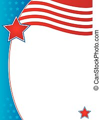 folleto, plano de fondo, patriótico