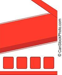 folleto, plano de fondo, rojo