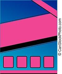 folleto, plano de fondo, rosa