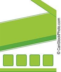 folleto, plano de fondo, verde