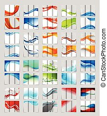 folleto, tri-fold, diseño determinado