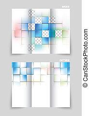 folleto, tri-fold, diseño