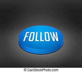 Follow Blue Button