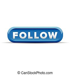 Follow blue button vector