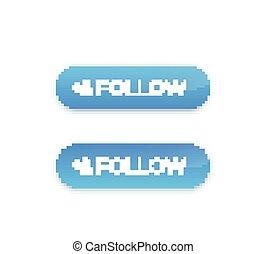 follow button design, vector