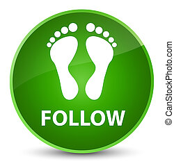 Follow (footprint icon) elegant green round button