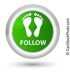 Follow (footprint icon) prime green round button