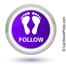 Follow (footprint icon) prime purple round button