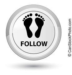 Follow (footprint icon) prime white round button
