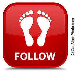 Follow (footprint icon) special red square button