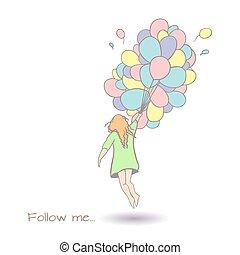Follow me art