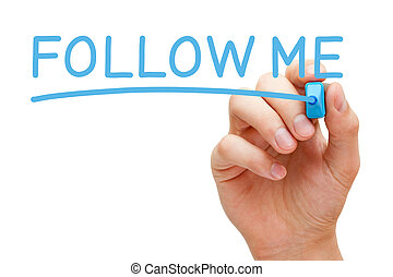 Follow Me Blue Marker