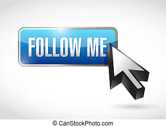 Follow me button post illustration design