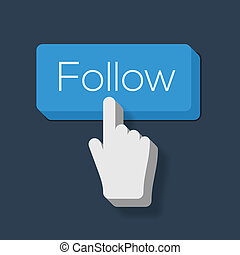Follow Me Button with Hand Shaped Cursor