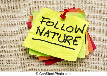 follow nature