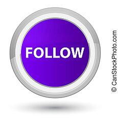 Follow prime purple round button