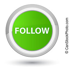 Follow prime soft green round button