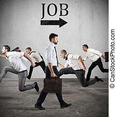 Follow the job arrow. Fear of the job