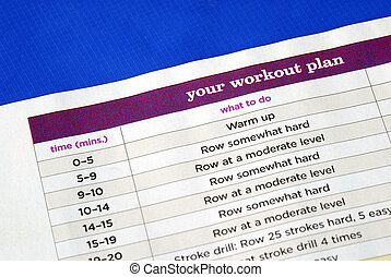 Follow the work out plan to keep fit