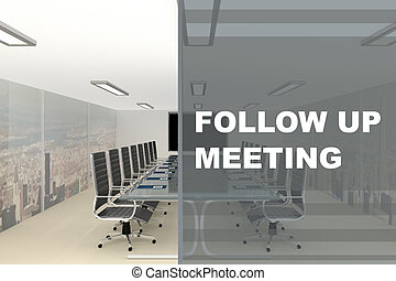 FOLLOW UP MEETING concept
