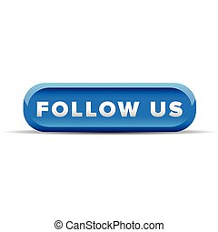 Follow us blue button vector