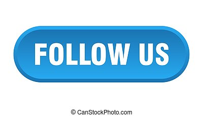 follow us button. follow us rounded blue sign. follow us